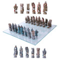 "PT11292 - 3.75"" King Arthur Chess Set with Glass Board"