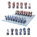 "PT11293 - 3.75"" Dragons Chess Set with Glass Board"
