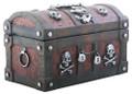 """YTC9042 - 3.75"""" Pirates Skull Trinket Box"""