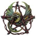 "PT08084 - 13"" Forest Pentagram Dragon Wall Plaque"