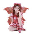 """PT11384 - 3"""" Small Red Sitting Fairy"""