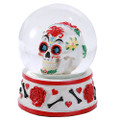"""PT11412 - 3.75"""" Red Day of the Dead Waterglobe"""
