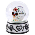 """PT11413 - 3.75"""" Blue Day of the Dead Waterglobe"""