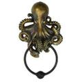 """PT11601 - 8.5"""" Bronze-finish Octopus Door Knocker"""