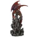 "PT11469 - 12.75"" Medium Red Dragon Castle Guardian"