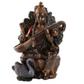 "PT11537 - 8"" Bronze-finish Saraswati"