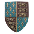 "PT11498 - 19"" Medieval Shield with Fleur de Leaf and Dragons"