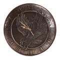 "PT11665 - 1.75"" Bronze-finish Eagle Clock"