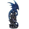 """PT11467 - 20.75"""" Large Blue Dragon Castle Guardian"""