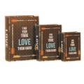 "PT11731 - 11.75"" Love Book Box; Set 3"