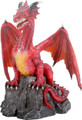 Y8769 - Red Dragon on Rock