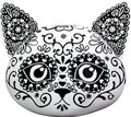 """YTC8900 - 4.5"""" Day of the Dead Kitty Head"""