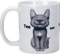 "YTC1636 - 3.75"" Ceramic Tee Hee Cat Mug"