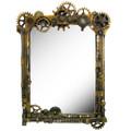 """PT12365 - 22.25"""" Steampunk Gearwork Mirror"""