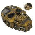 "PT12371 - 21"" Steampunk Skull Trinket Box"