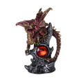 """PT12394 - 8"""" Red Dragon with Gemstone"""