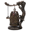 "PT12420 - 7.5"" Bronze-finish Dragon Fengshui Bell"
