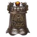 "PT12421 - 5.125"" Bronze-finish Dragon Fengshui Bell"