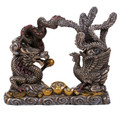 """PT12423 - 5.25"""" Bronze-finished Dragon and Phoenix"""