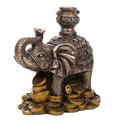 """PT12424 - 4.125"""" Bronze-finished Fengshui Elephant"""