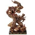 "PT12523 - 10.375"" Bronze-finish Fengshui Dragon"