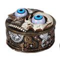 "PT12545 - 2.75"" Steampunk Skull Trinket Box"