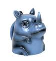 "PT12566 - 4"" Ceramic Rhino Topsy Turvy Mug"