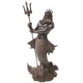 """PT12595 - 11.75"""" Bronze-finish Poseidon"""