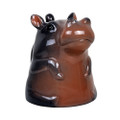 "PT12599 - 4"" Ceramic Hippo Topsy Turvy Mug"