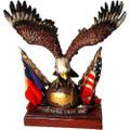 "PF7104 - 6"" Globe Eagle w/Texas/USA Flag"