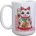 YTC1648 - 15 oz Ceramic Maneki Neko Coffee Mug