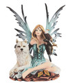 """GSC92077 - 8"""" Blue Fairy with Wolf and Eagle"""