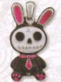DD2872 - Black Furrybones Bun-Bun Pendant