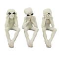 PT10933 - Alien See, Speak, Hear No Evil Skeletons