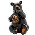 """PT13765 - 5.25"""" Black Bear Eating Honey"""
