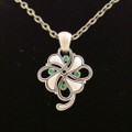 PTJ004 - Lead-free pewter Clover Necklace