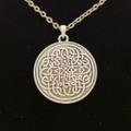 PTJ016 - Lead-free pewter Celtic Flower Necklace