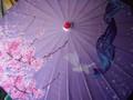 Bamboo Parasol; Cherry Blossom Light Purple