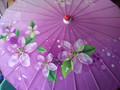Bamboo Parasol; Peonies