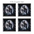 "PT13794 - 3.66"" Cat Roses Slate Coaster Set of 4"
