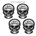 """PT13795 - 3.66"""" Dead Thirsty Skull Coaster Set of 4"""