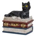 "PT13869 - 4.75"" Wiccan Black Cat Trinket Box"