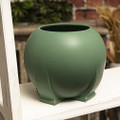YTC03551 - Porcelain Teco Orb Green Vase