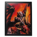 "PT90147 - 9""x11"" Dragon Raid Framed Ceramic Tile"