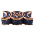 "PT13931 - 6.5"" Triple Moon Trinket Box"