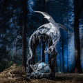 """PT14010 - 20"""" Ice Cave Dragon with Hatchling (RA31225)"""
