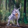 """PT14016 - 13"""" Sleeping Fairy on Stag"""