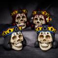 """PT13958 - 4.25"""" King Suite Skulls Set of 4"""