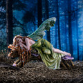 """PT14008 - 13"""" long Sleeping Fairy in Forest"""