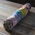 "PT14076 - 9"" long Seven Chakra White Sage Smug Sticks (pk of 5)"